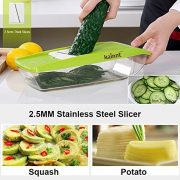Mandoline-Slicer-Kainnt-Adjustable-Mandoline-with-5-Thickness-Settings-Interchangeable-Stainless-Steel-Blades-Vegetable-Peeler-SlicerOne-Clean-Brush-Food-Container-0-3